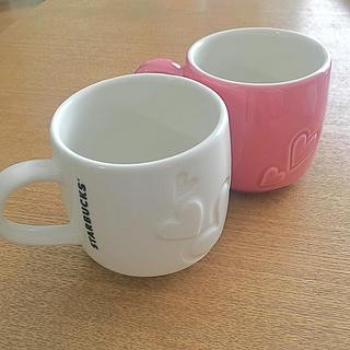 Starbucks Coffee - スタバ  バレンタイン限定 ペアマグカップ