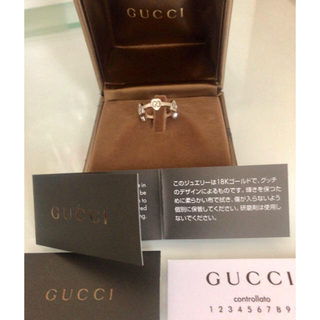 グッチ(Gucci)のGUCCI GGハートリング K18ホワイトゴールド(リング(指輪))