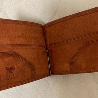 ホワイトハウスコックス(WHITEHOUSE COX)の専用 良品✳︎sotプエブロレザーのマネークリップ(キャメル)(折り財布)