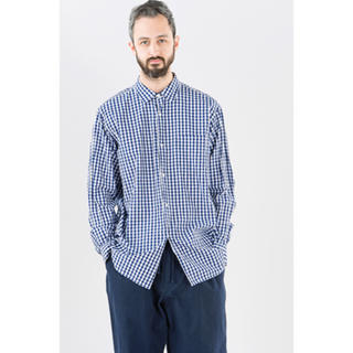 COMOLI - コモリ コモリシャツ シャツ ギンガム ネイビーサイズ2 オーラリー