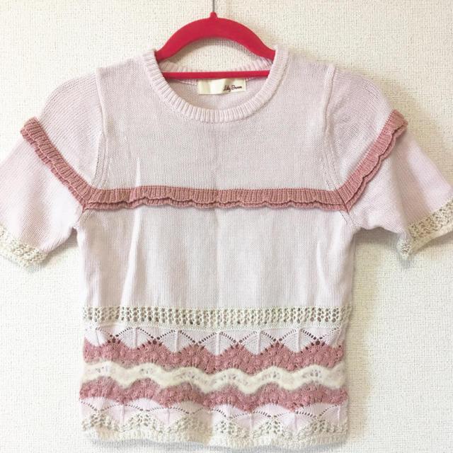 Lily Brown(リリーブラウン)のlily brown♡ニットトップス レディースのトップス(カットソー(半袖/袖なし))の商品写真