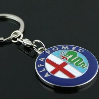 アルファロメオ(Alfa Romeo)のアルファロメオ ロゴキーホルダー 新品 未使用 AlfaRomeo(車外アクセサリ)