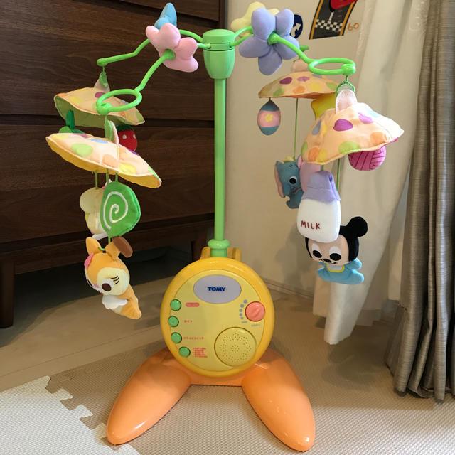 Disney(ディズニー)のディズニー ベッド メリー オルゴール 床置き キッズ/ベビー/マタニティのおもちゃ(オルゴールメリー/モービル)の商品写真