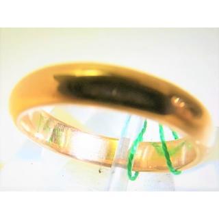 K18 18金 リング 甲丸 サイズ#9 結婚指輪(リング(指輪))