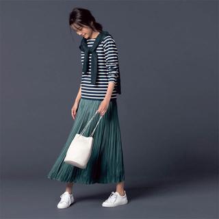 ベルメゾン(ベルメゾン)のクリンクルサテンスカート・3Lサイズ(ロングスカート)
