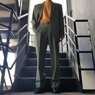 JOHN LAWRENCE SULLIVAN - ヴィンテージ スーツ セットアップ カーキ モスグリーン ダークグリーン