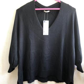 GU - GU 七分袖ニット  新品タグ付き  M黒