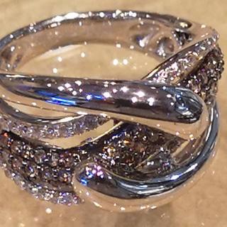 K18ホワイトゴールドダイヤモンドリング(リング(指輪))