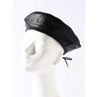 ROSE BUD - ROSE BUD レザーベレー帽