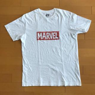 マーベル(MARVEL)のユニクロ marvel 白 ホワイト Tシャツ(Tシャツ(半袖/袖なし))