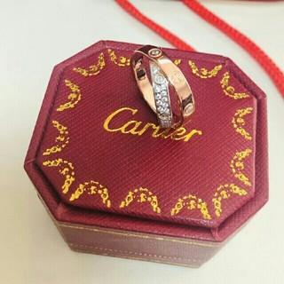 Cartier - CARTIER カルティエ 指輪 スクロールラベルリング ラージ 美品