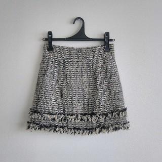 マーキュリーデュオ(MERCURYDUO)のツイードラメ 台形スカート(ミニスカート)