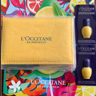 ロクシタン(L'OCCITANE)の⭐️ロクシタンコンパクトミラー⭐️イモーテル  オーバーナイトリセットセラム2個(ミラー)