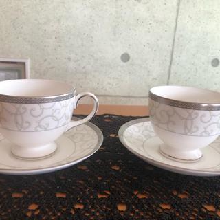 ウェッジウッド(WEDGWOOD)のウェッジウッドの高台コーヒーカップ&ソーサー(グラス/カップ)