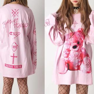 フーガ(FUGA)のTRAVAS TOKYO ピンク くまTシャツ ロンT(Tシャツ/カットソー(七分/長袖))