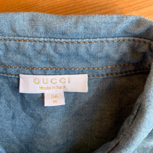 Gucci(グッチ)のグッチ GUCCI デニムシャツ キッズ  サイズ 36 キッズ/ベビー/マタニティのキッズ服 男の子用(90cm~)(Tシャツ/カットソー)の商品写真