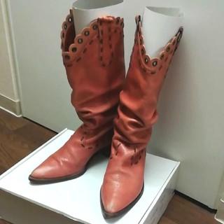 ベネトン(BENETTON)のBENETTONのウエスタンブーツ 本革 本皮 日本製 ミドルブーツ ミドル丈(ブーツ)