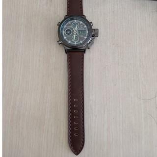 多機能LED日付アラームレザー防水腕時計(腕時計(デジタル))
