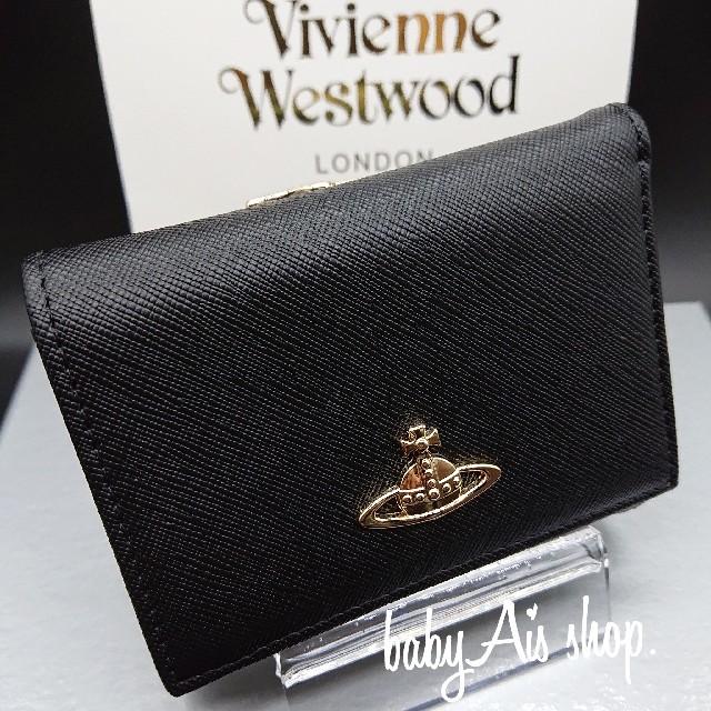 Vivienne Westwood(ヴィヴィアンウエストウッド)のお値下げ中!【新品正規品】ヴィヴィアンウエストウッド 折り財布 がま口♥️R02 レディースのファッション小物(財布)の商品写真