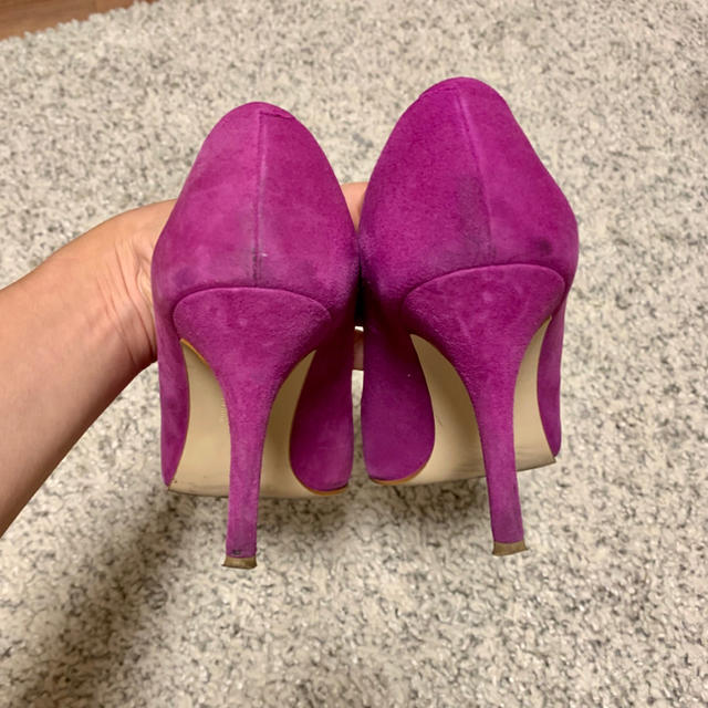 Odette e Odile(オデットエオディール)のユナイテッドアローズ オデットエオディール ポインテッド  パンプス 紫 レディースの靴/シューズ(ハイヒール/パンプス)の商品写真