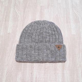アンパサンド(ampersand)の« 美品 » アンパサンド ニット帽 グレー ミックス(帽子)