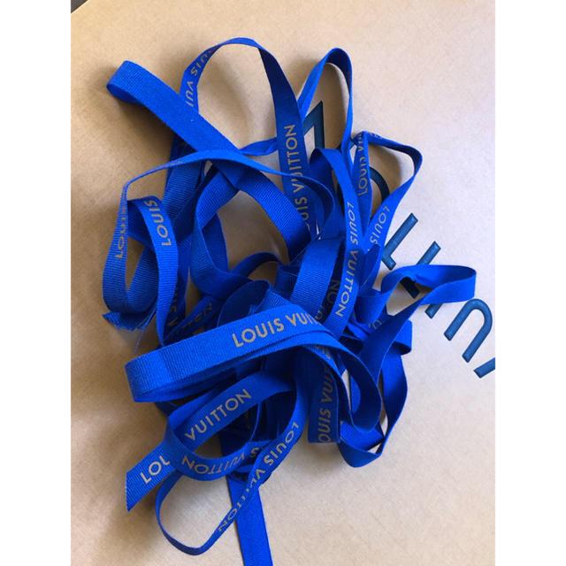 LOUIS VUITTON(ルイヴィトン)のLV 正規店 リボン ロング4本セット ハンドメイドの素材/材料(生地/糸)の商品写真