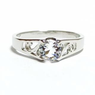 9号 スワロフスキー アールヌーボー シルバーリング(リング(指輪))