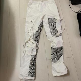 バレンシアガ(Balenciaga)の【S-】Rogic パイソン パンツ WHITE(ワークパンツ/カーゴパンツ)