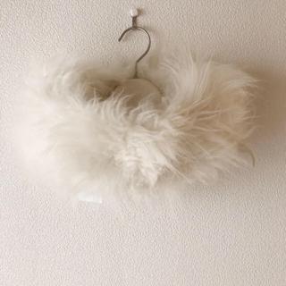 フルラ(Furla)の新品タグ⭐️ FURLA フルラ カシミヤ100% ファー スヌード ホワイト系(マフラー/ショール)