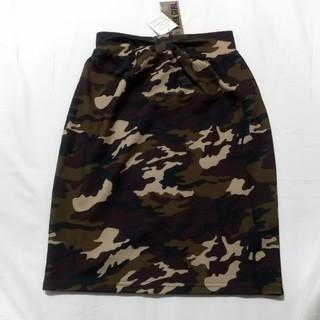 M 迷彩柄 スカート(ひざ丈スカート)