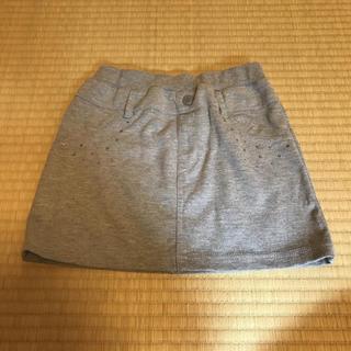 ジーユー(GU)の女の子 スカート 130 グレー gu(スカート)