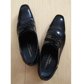 キャサリンハムネット(KATHARINE HAMNETT)のメンズ ビジネス シューズ 靴 ドレス 24.5 ブラック 黒(ドレス/ビジネス)