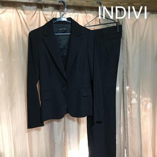 INDIVI - INDIVI パンツスーツ ジャケット38パンツ36 サイズ違い