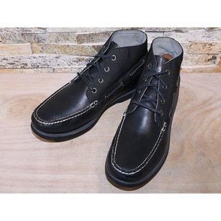 ポロラルフローレン(POLO RALPH LAUREN)のラルフローレン ボートチャッカ アンクルブーツ 黒 27cm(ブーツ)