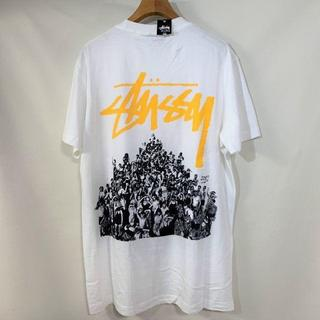 STUSSY Tシャツ 白 ストックロゴ