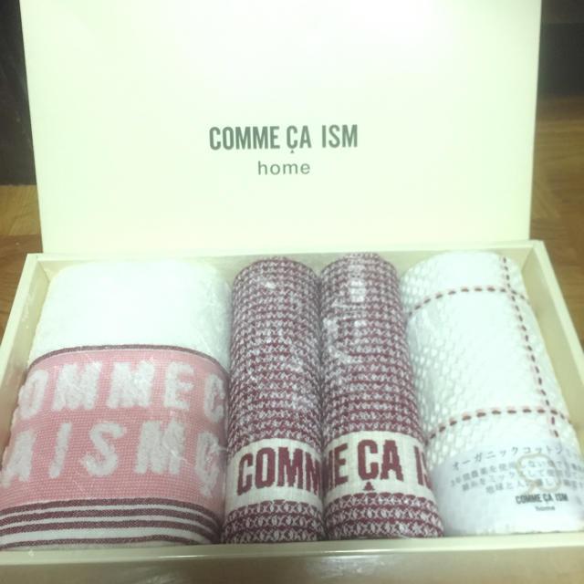 COMME CA ISM(コムサイズム)のコムサイズム タオル4枚セット インテリア/住まい/日用品の日用品/生活雑貨/旅行(タオル/バス用品)の商品写真