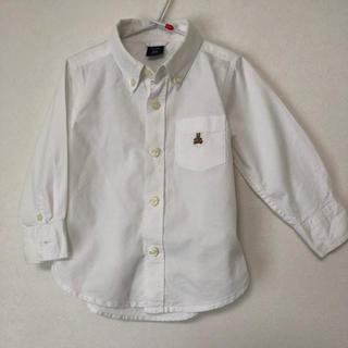 ベビーギャップ(babyGAP)のGAP オックスフォードシャツ 90cm ホワイト ボタンダウン(ブラウス)