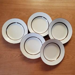 ナチュラル ブラウンライン プレート 大皿 5枚セット 新品