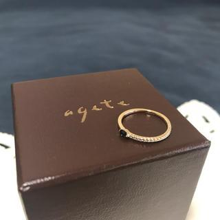 アガット(agete)のアガット ブルーサファイア ピンキーリング(リング(指輪))