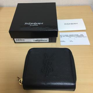 サンローラン(Saint Laurent)のイヴ  サンローラン   ☆折財布  ブラック☆(財布)
