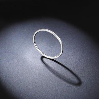 超極細ステンレスリング シルバー 重ねて着け ピンキーリング 関節リング (リング(指輪))