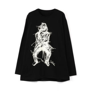 ヨウジヤマモト(Yohji Yamamoto)の朝倉優佳 山本耀司 コラボ Tシャツ|Yohji Yamamoto|カットソー(Tシャツ/カットソー(七分/長袖))