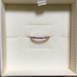 ジュエリーツツミ(JEWELRY TSUTSUMI)のジュエリーツツミ🌟K10 ピンクゴールド ピンクサファイヤ 11号 ③(リング(指輪))