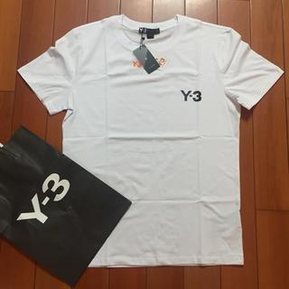 ワイスリー(Y-3)のY-3サイズM白Tシャツ(Tシャツ/カットソー(半袖/袖なし))