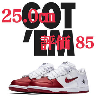 NIKE - 25.0㎝ Supreme Nike SB Dunk Low White