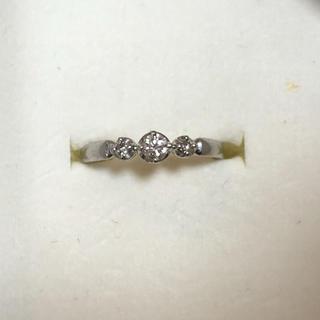 ヨンドシー(4℃)の4℃ プラチナ950 ダイヤリング 8号(リング(指輪))