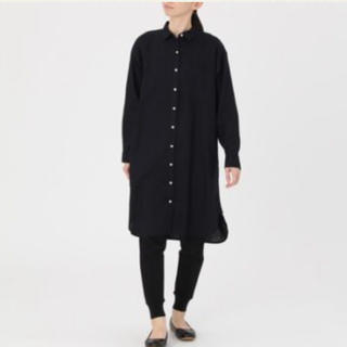 MUJI (無印良品) - 無印 フレンチリネン洗いざらしシャツワンピース