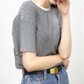 ヤエカ(YAECA)のLeno&co半袖ボーダーカットソー tシャツ(Tシャツ(半袖/袖なし))