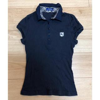 バーバリーブルーレーベル(BURBERRY BLUE LABEL)の美品♡バーバリーブルーレーベル ポロシャツ  ネイビー レディース(ポロシャツ)