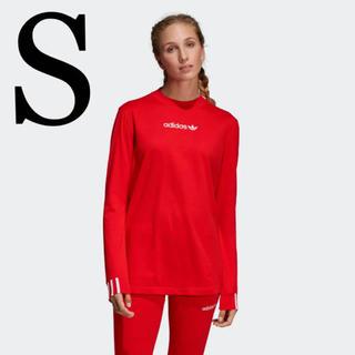 アディダス(adidas)のアディダスオリジナルス 長袖Tシャツ 赤 S(Tシャツ(長袖/七分))